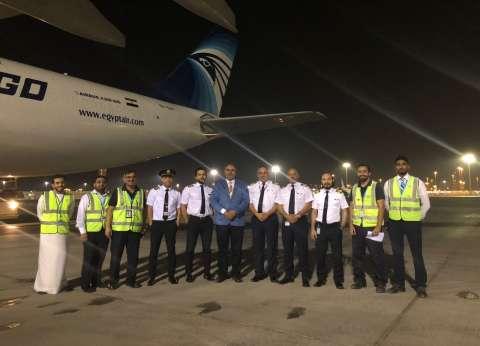 """إقلاع طائرة """"مصر للطيران"""" الثانية إلى """"دريسدن"""" لتحويلها لـ""""بضائع"""""""