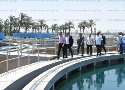 بالصور| محافظ الشرقية يتفقد محطة مياه مشتول السوق