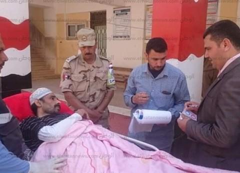 مصاب بشلل رباعي يدلي بصوته في الاستفتاء بدمياط