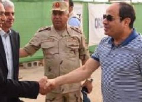 """السيسي يجتمع مع وزير الإسكان والمدير التنفيذي لشركة """"دار هندسة مصر"""""""
