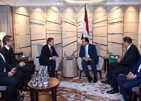 مدبولي يلتقي نائب المستشارة الألمانية ووزير المالية