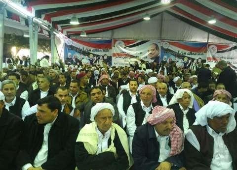 رؤساء قبائل وعمد وشيوخ مطروح يدشنون حملة لدعم ترشح السيسي للرئاسة