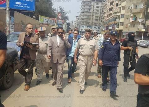 مدير أمن الدقهلية يقود حملة لإزالة الإشغالات في شوارع المنصورة