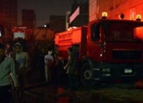 السيطرة على حريق هائل بمصنع نسيج في شبرا الخيمة