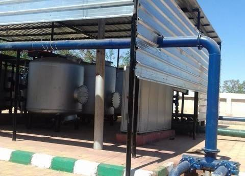 مركز الخارجة يزيد عدد ساعات تشغيل محطات مياه الشرب لـ19 ساعة يوميا
