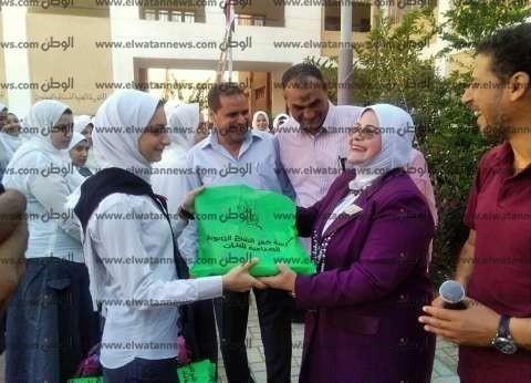 """في أول يوم دراسة.. """"كفر الشيخ"""" تكرم الطلاب أبناء الشهداء بطابور الصباح"""