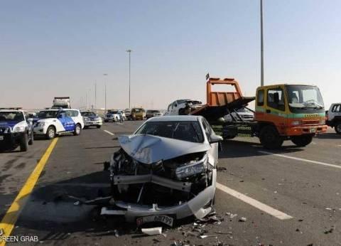 إصابة 9 أشخاص في حادث تصادم سيارتين بالغردقة