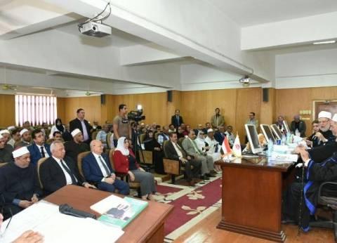 علي جمعة يناقش رسالة دكتوراه لباحث بحضور محافظ الشرقية