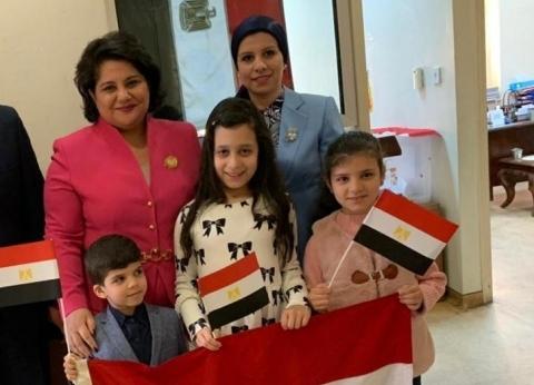 سفيرة مصر لدى قبرص تدلي بصوتها في استفتاء التعديلات الدستورية