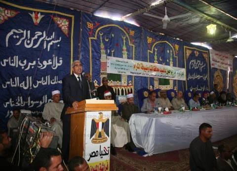 محافظ قنا يشهد جلسة صلح القودة بين عائلتي قنديل وعلاء الدين بمركز قوص