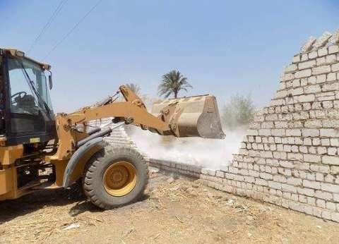 إزالة 308 حالات تعد على الأراضي الزراعية في المنيا