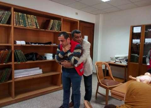 بالصور  الهلال الأحمر المصري يعقد دورة الإسعافات الأولية في دمياط