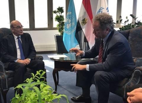 """وزير الزراعة يلتقي رئيس صندوق التنمية الزراعية """"ايفاد"""""""