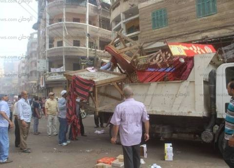 حملة لإزالة الإشغالات من منطقة جامع عمرو بن العاص