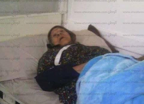 """عجوز تصر على التصويت رغم إصابتها خلال الانتخاب: """"كله يهون عشان السيسي"""""""