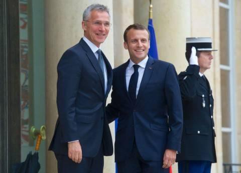 ماكرون يستقبل الأمين العام للحلف الأطلسي قبل قمة يوليو