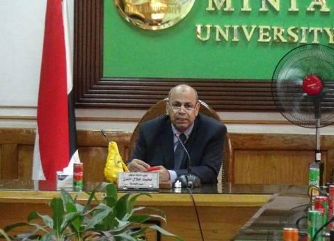 نائب رئيس جامعة المنيا يعقد اجتماعا لمناقشة استعدادات استقبال الطلاب
