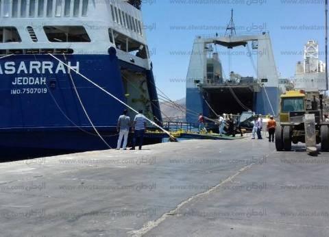 ميناء نويبع يستقبل السفينة سينا وعلى متنها  417 راكبا