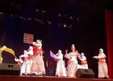بالصور| التنورة والكف البدوي في احتفالات مسرح طنطا بـ30 يونيو
