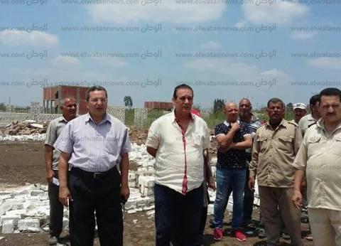 """إزالة 279 حالة بناء مخالف علي أرض """"مؤسسة اللحوم"""" في الدقهلية"""