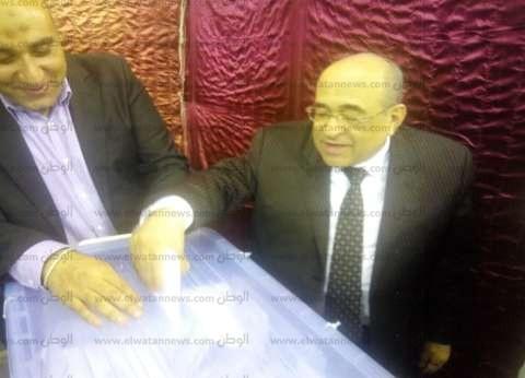 """مصطفى الفقي يدلي بصوته في انتخابات """"الوفد"""""""