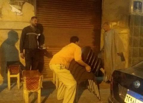 وسط الإسكندرية تشن حملة لإزالة الإشغالات