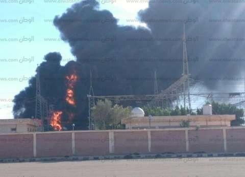 عاجل بالصور| حريق هائل بمحطة كهرباء مطروح.. وانقطاع التيار عن المدينة بأكملها