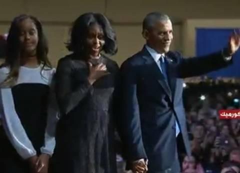 عاجل| أوباما يوجه الشكر لزوجته: صديقتي وشريكتي ونموذج يحتذى به