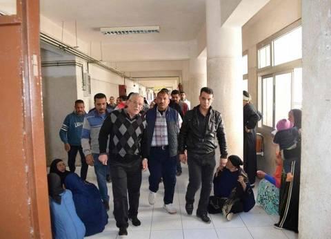 استقبال الحالات المرضية بمستشفى المنيا العام بدلا من الجامعي