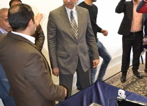 رئيس جامعة الإسكندرية يفتتح مركز الخدمات الشرطية بالاستاد