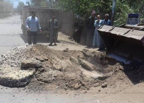 رئيس مدينة أشمون: تعامل فوري مع هبوط أرضي بساقية أبو شعرة