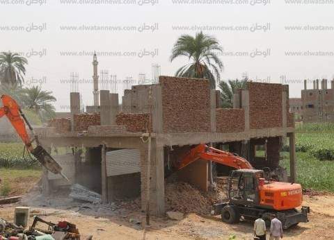 تنفيذ 17 قرار إزالة تعديات على أملاك الدولة بكفر الشيخ