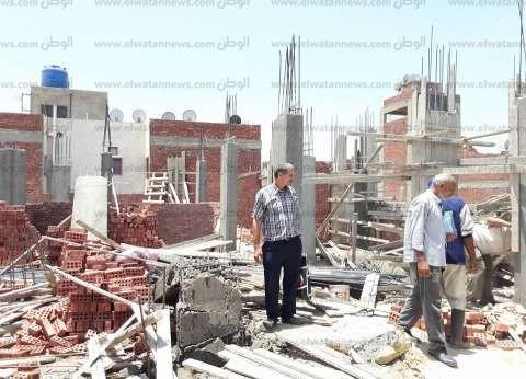 حملة لإزالة أعمال البناء المخالف في الإسكندرية