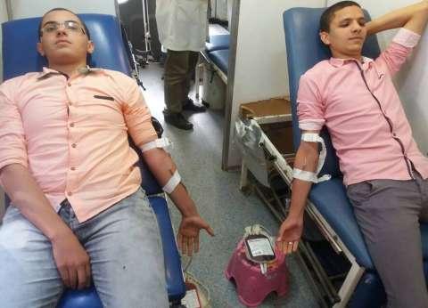 حملة للتبرع بالدم في جامعة المنيا