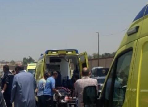 """إصابة 14 عاملا إثر انقلاب سيارة على طريق """"أحمد رامي- البستان"""" بالبحيرة"""