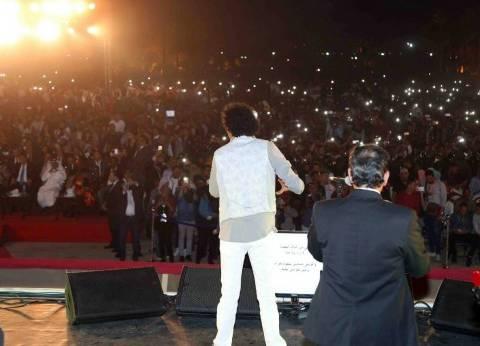 """60 ألف مواطن يحضرون حفل """"الكينج"""" بختام """"الثقافة العربية"""" بساحة الكرنك"""
