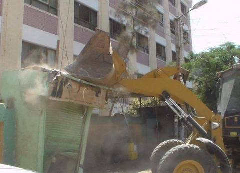 إزالة 195 حالة تعد بشوارع مغاغة في المنيا
