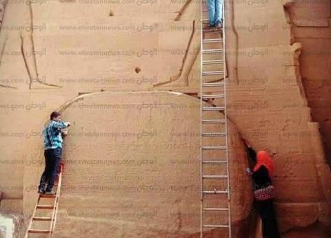 بالصور| بدء أعمال صيانة وترميم معبد فيلة في أسوان