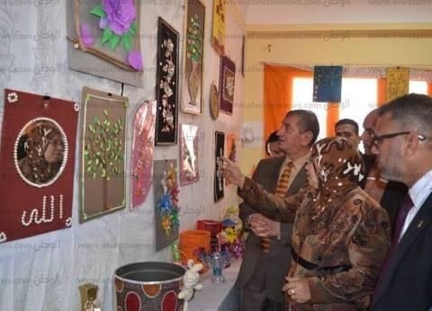 بالصور| محافظ كفر الشيخ: إقامة معرض دائم لبيع منتجات المدارس الفنية