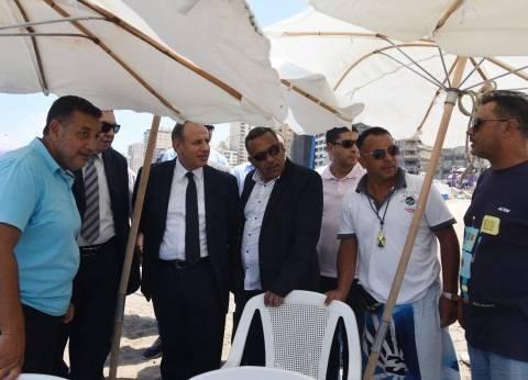 محافظ الإسكندرية يتفقد شواطئ الكورنيش للتأكد من استعدادات العيد