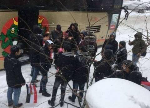6 مشاهد تظهر تحدي المصريين بالخارج للثلوج خلال تصويتهم في الانتخابات