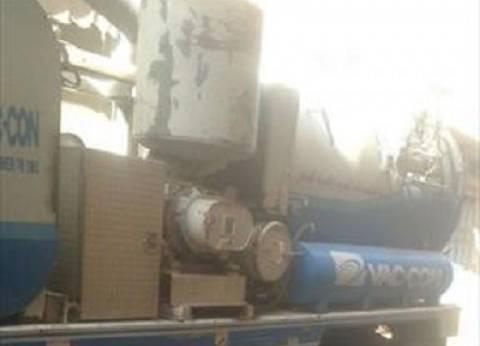 إصلاح خط المياه بطريق مركز شباب قرية البصارطة في دمياط