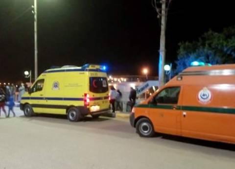 بعد تفقد وزير النقل للطريق.. 27 مصابا في حادث مروري بالمنيا