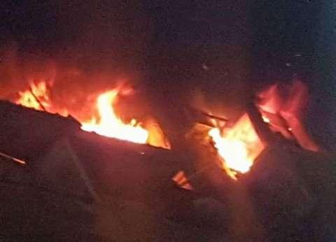 السيطرة على حريق التهم 4 منازل وحوش ماشية في أسيوط