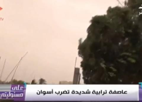 """بالفيديو  أحمد موسى يعرض تقرير """"الوطن"""" عن العاصفة الترابية في أسوان"""