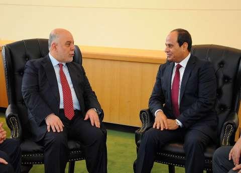 """السيسي لـ""""العبادي"""": مصر حريصة على وحدة العراق"""