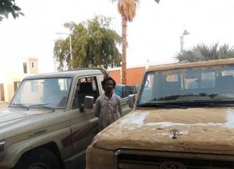 مرور الوادي الجديد يضبط 4 سيارات مهربة من ليبيا