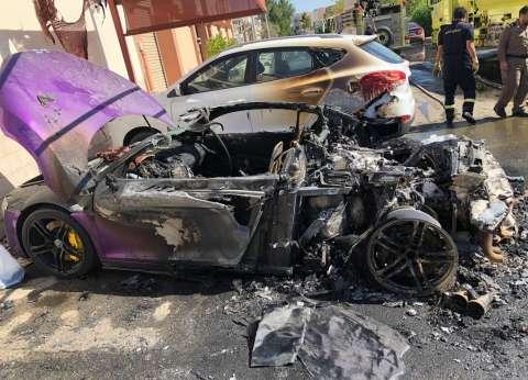 """إصابة طالب في انقلاب """"ملاكي"""" على الطريق الصحراوي بالبحيرة بسبب الأمطار"""