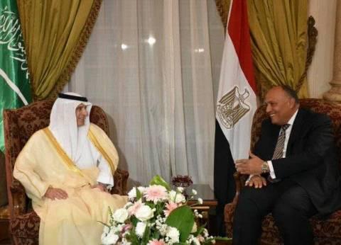 كواليس القرار: «الجبير» نسّق مع «شكرى» وطلب مشاركة مصر لفرض ضغط على «الدوحة»