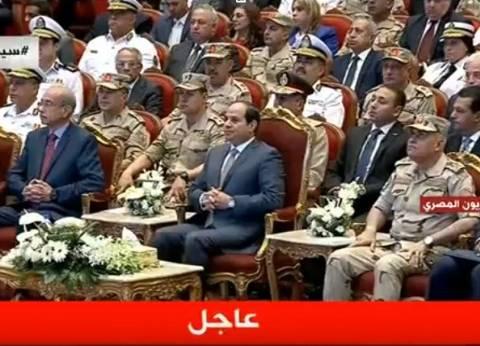 """السيسي: """"الحمد لله سيناء تحررت واخترنا السلام خيار استراتيجي"""""""